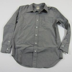 HAUTE HIPPIE Grey Striped Button Up Shirt S